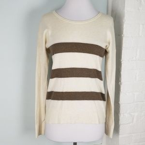 LOFT shimmer stripe sweater